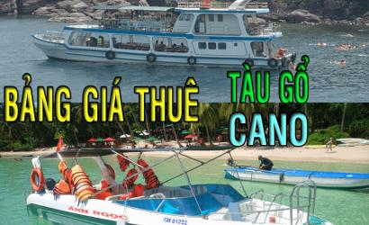 BANG GIA THUE CANO - TAU GO